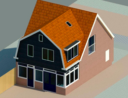 Dakopbouw van een woning in Nijkerk